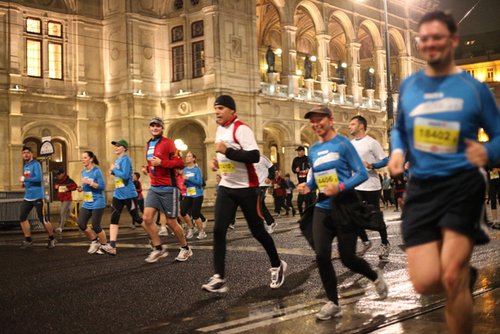 Vienna night run fotos