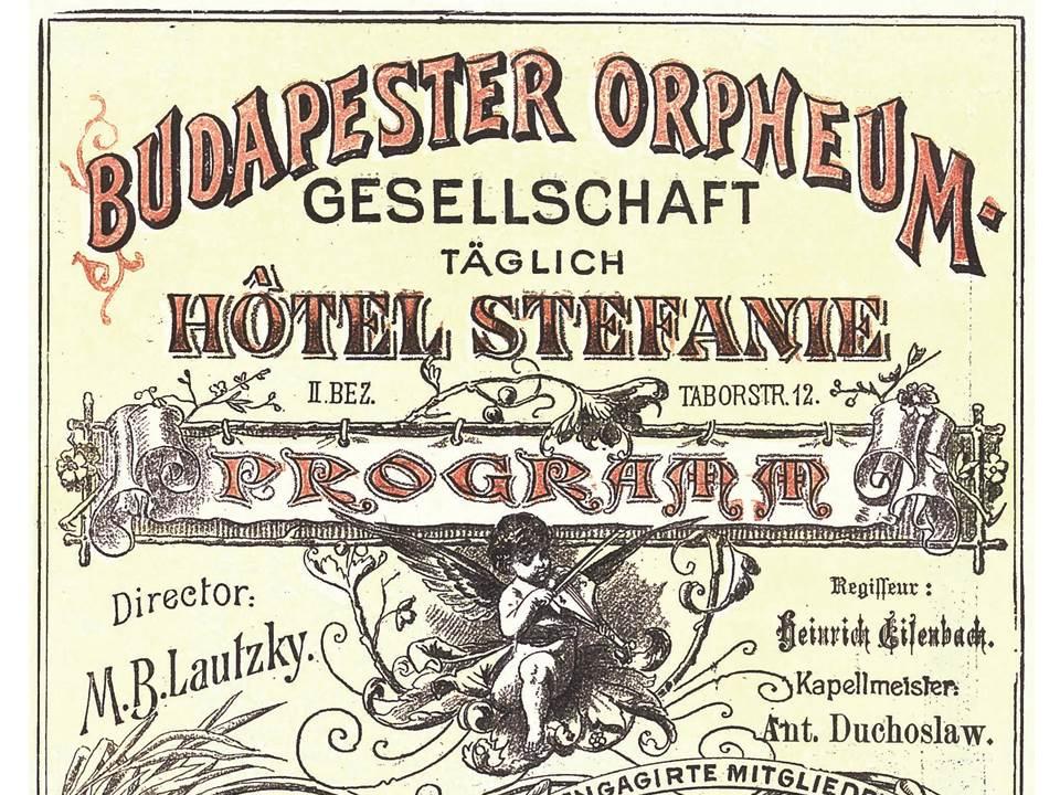 "Programme of the ""Budapester Orpheumgesellschaft"""