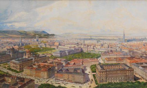 Erwin Pendl-Wien aus der Vogelschau vom Getreidemarkt aus-1904 © Wien Museum