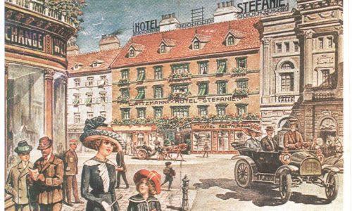 Hotel Stefanie postcard, 1910