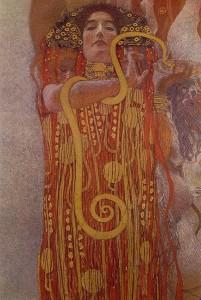 Gustav Klimt - Hygeia (Die Göttin der Gesundheit)