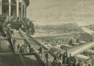 Franz-Kollarz-Auf-dem-Dach-der-Rotunde-1873-Xylografie-©-Wien-Museum