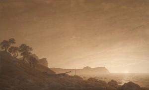 Caspar David Friedrich, Blick auf Arkona mit aufgehendem Mond, um 1805-06, Albertina, Wien