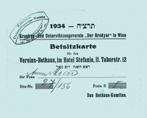Betsitzkarte, 1934