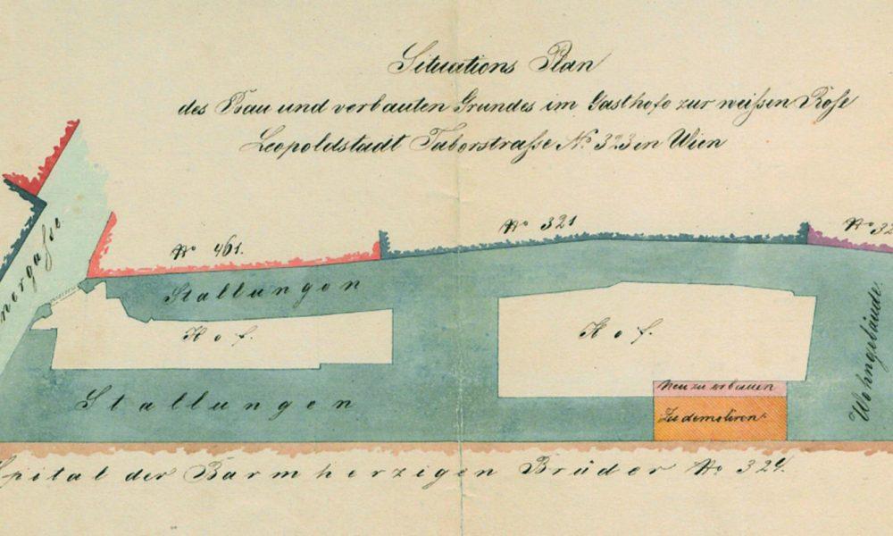 Ausschnitt aus dem Bauplan von 1856
