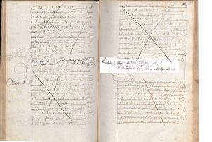 Originaler Grundbuchauszug aus 1600