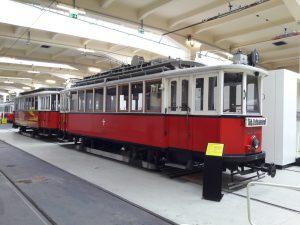 Historischer Straßenbahnzug