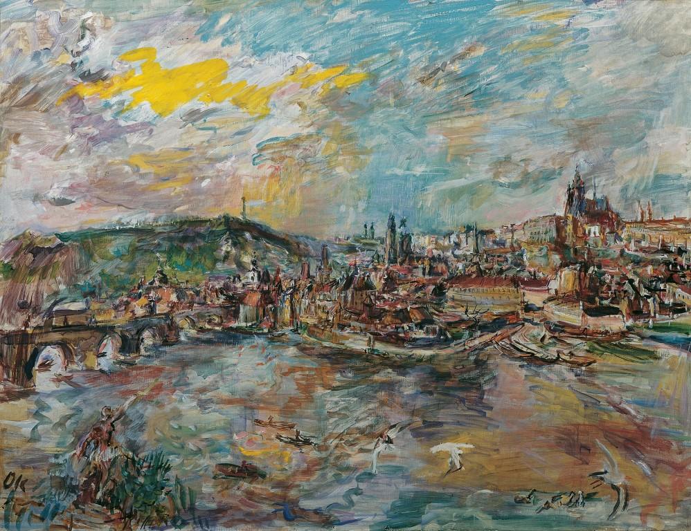 Oskar Kokoschka-Der Prager Hafen 1936(c)Belvedere Wien