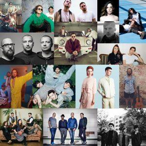 Einige der Künstler 2018