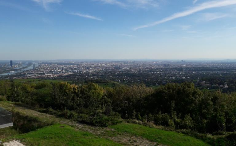 Ausblick vom Kahlenberg auf Wien