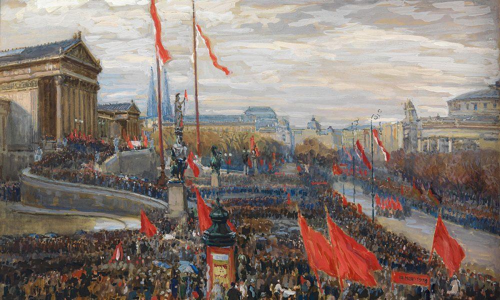 Die Ausrufung der Republik am 12. November 1918, Rudolf Konopa-Gemälde (c) Wien Museum