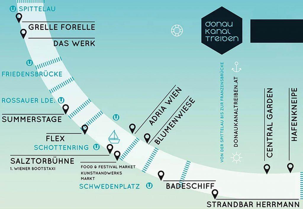 Lageplan Donaukanaltreiben