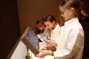 Mikroskopie Labor, ZOOM Kindermuseum. copyright J.J. Kucek