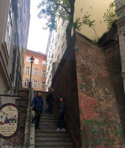 Reste der alten Stadtmaper am Mölker Steig