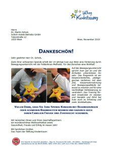 Brief der Stiftung Kindertraum
